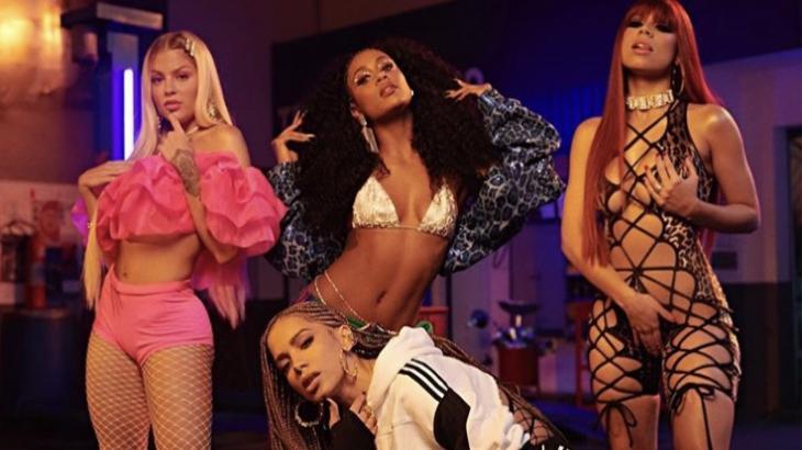 Anitta, Lexa, MC Rebecca e Luísa Sonza gravam clipes juntas e levam web à loucura