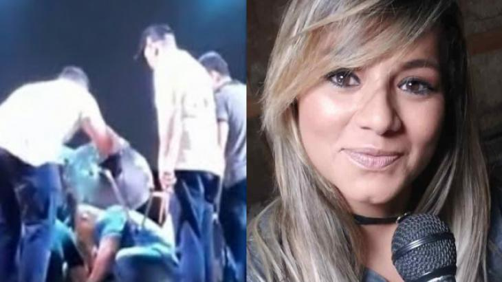 Andreia Ribeiro passa mal em show