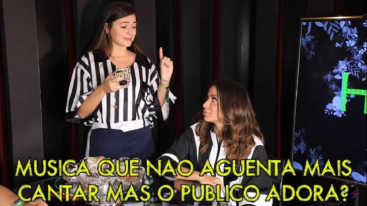 Anitta garantiu que não aguenta cantar Show das Poderosas. Foto: Reprodução/Youtube