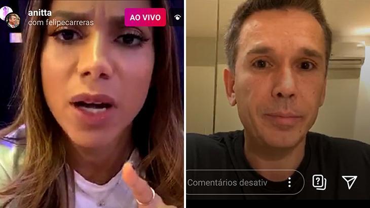 Anitta bate boca com deputado durante live sobre direito autoral