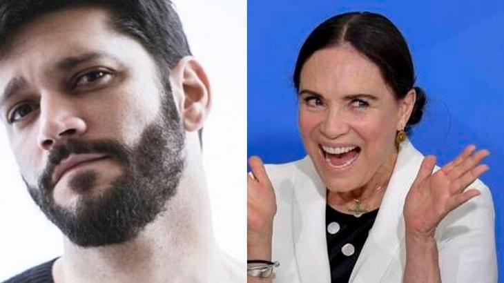 Armando Babaioff critica Regina Duarte por não comentar mortes de artistas