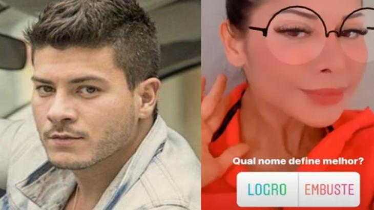 Arthur Aguiar e Mayra Cardi - Foto: Montagem/Reprodução