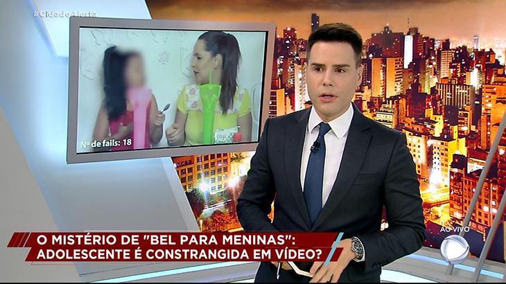 Luiz Bacci critica a youtuber Fran durante o Cidade Alerta