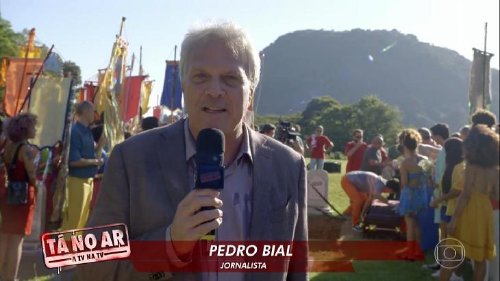 Pedro Bial discursou na despedida do
