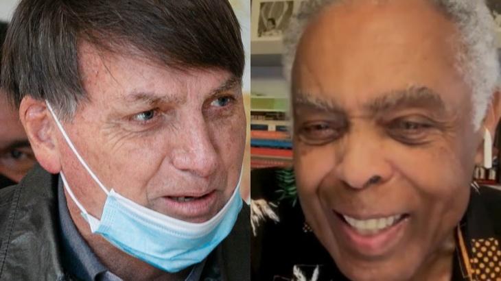 Jair Bolsonaro e Gilberto Gil