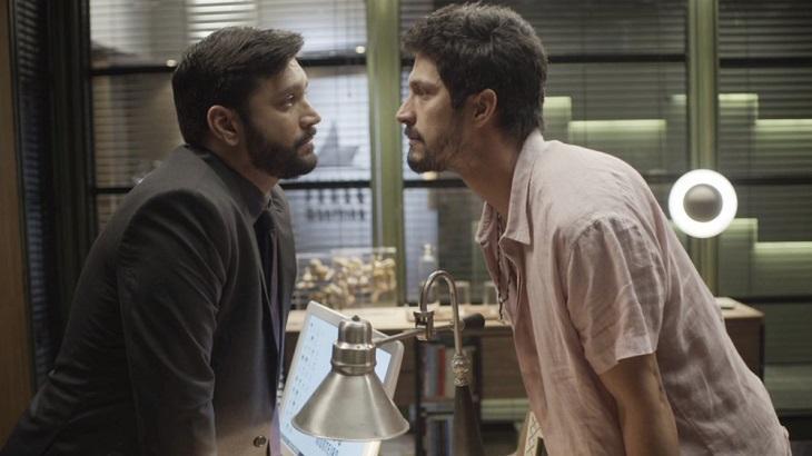 Marcos frente a frente com Diogo por causa do vídeo contra Paloma. Foto: Divulgação