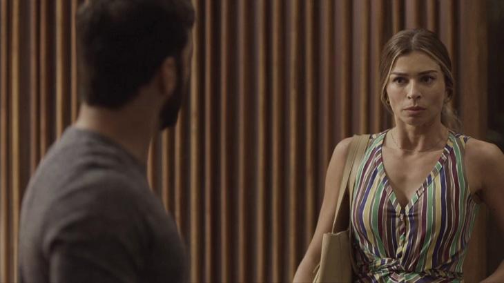 Paloma quase contará a Diogo que Nana está grávida. Foto: Divulgação/Gshow
