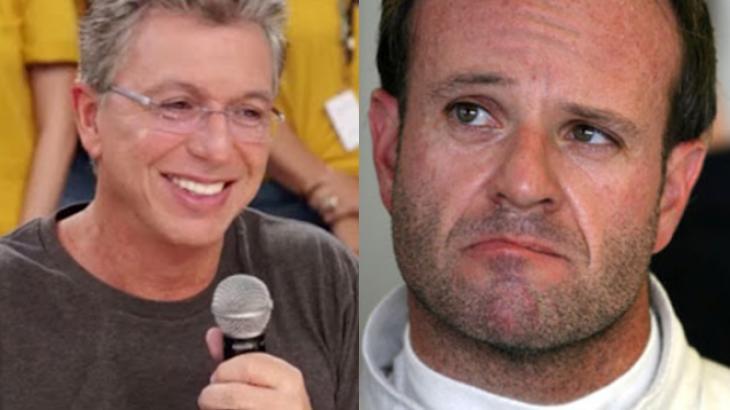 Rubens Barrichello se irrita com brincadeira de Boninho: