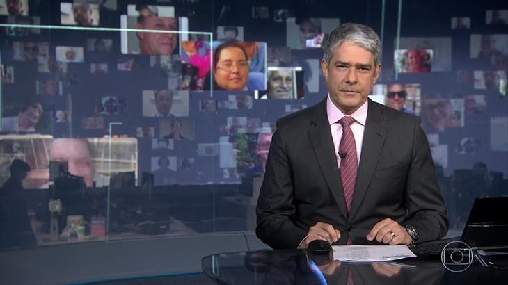 Jornal Nacional exibe rostos de vítimas da Covid-19 no Brasil