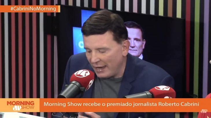 Roberto Cabrini foi entrevistado pelo