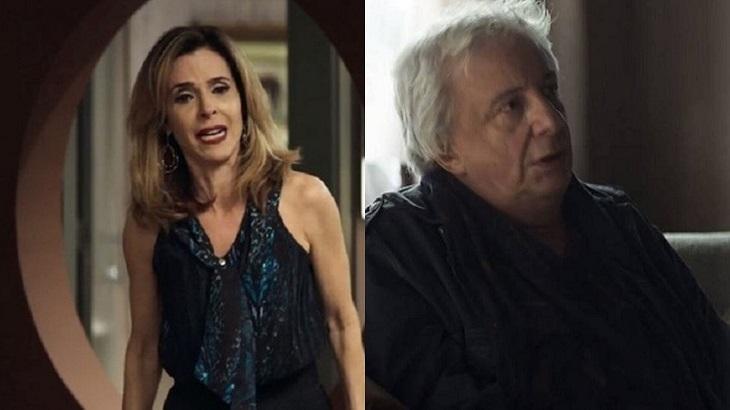 Lyris e Eusébio são dois dos muitos personagens sem função em A Dona do Pedaço. Foto: Montagem