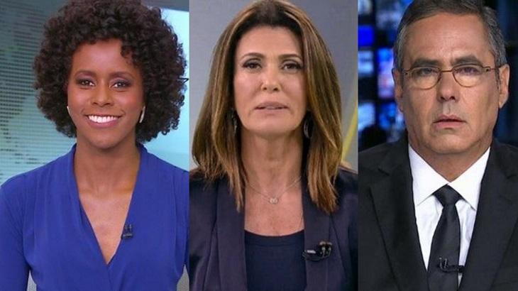 Na Globo, na Record e na Band haverá mudanças no jornalismo. Foto: Montagem