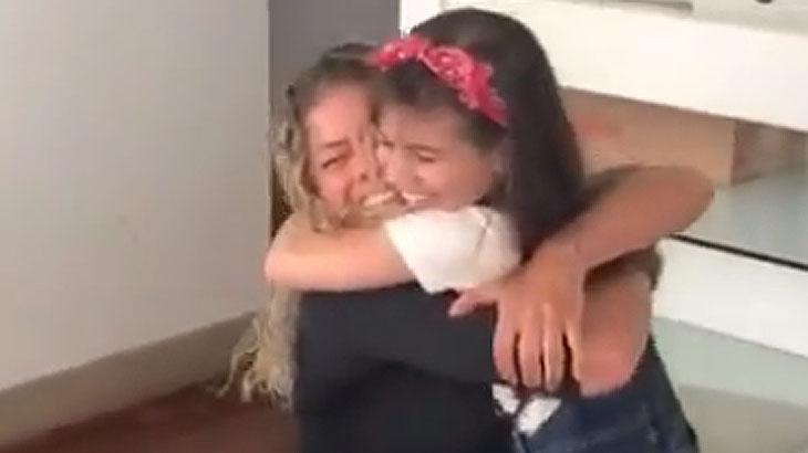 Catia Paganote e a filha