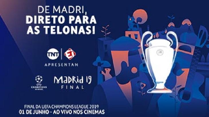 Final da Champions vai ser exibida nos Cinemas. Foto: Divulgação