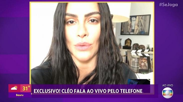 Cleo contou no Se Joga que o pai Fábio Jr também ficou vulnerável a hacker. Foto: Reprodução/Globo