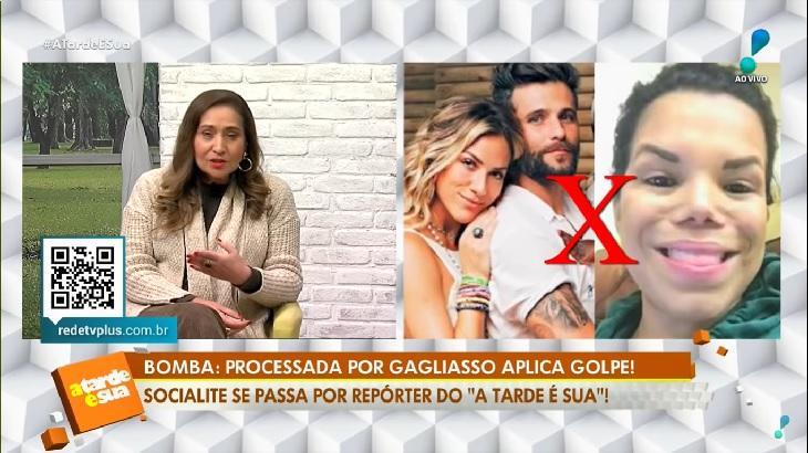 Day Mccarthy pede desculpas para Sônia Abrão após se passar por repórter do A Tarde É Sua