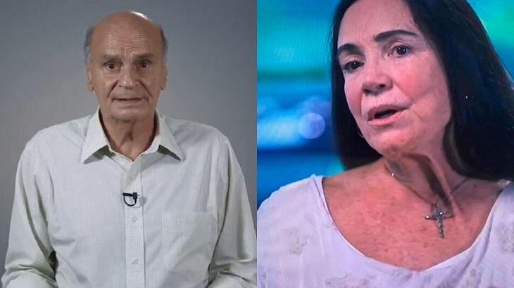 Perfil falso de Drauzio Varella fez críticas a Regina Duarte - Foto: Montagem