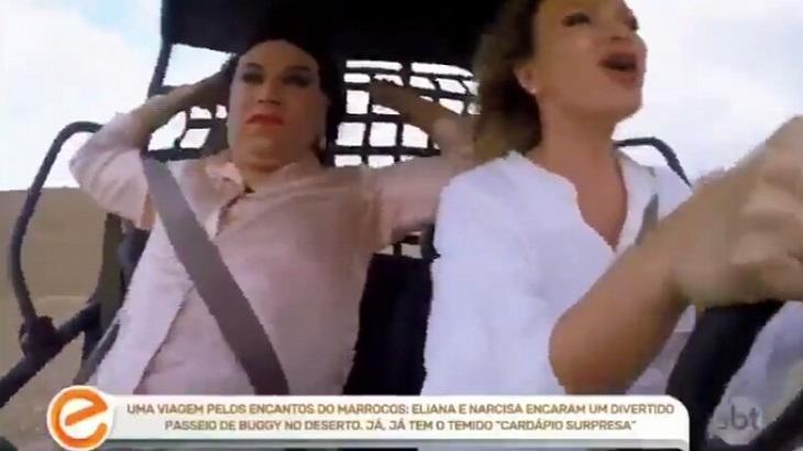 Em visita ao Marrocos, Eliana quase cai e vira meme