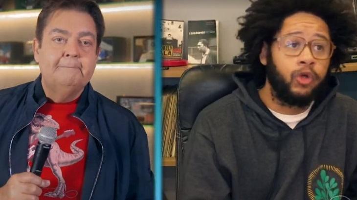 Emicida foi entrevistado por Faustão e falou sobre racismo - Foto: Reprodução