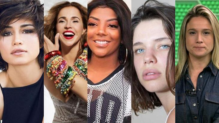 Ludmilla e várias outras famosas se assumiram nos últimos anos - Foto/montagem