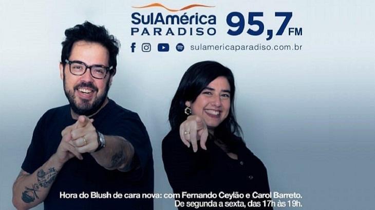 Fernando Ceylão e Carol Barreto vão apresentar o programa