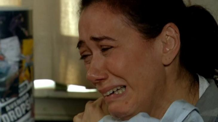 Cena de Fina Estampa com Griselda chorando
