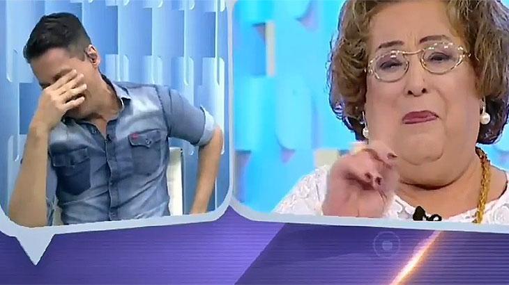 """Léo Dias e Mama Brucheta emocionados no """"Fofocalizando"""""""