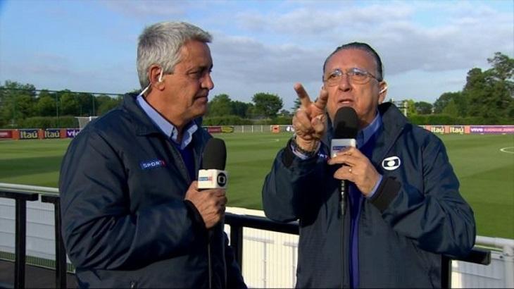Após demissão, Mauro Naves aparece tomando champanhe com Galvão Bueno