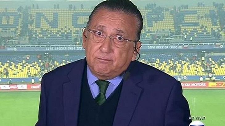 Galvão Bueno deu resposta atravessada para torcedor do Flamengo. Foto: Divulgação