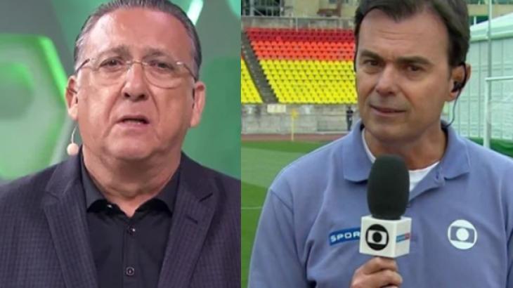 Galvão Bueno e Tino Marcos