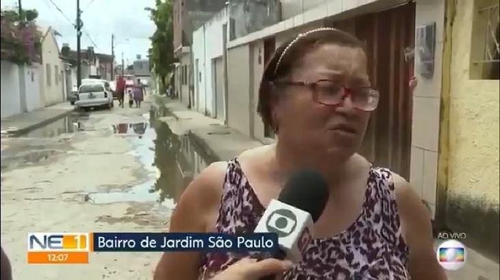 Entrevista foi interrompida devido a acidente