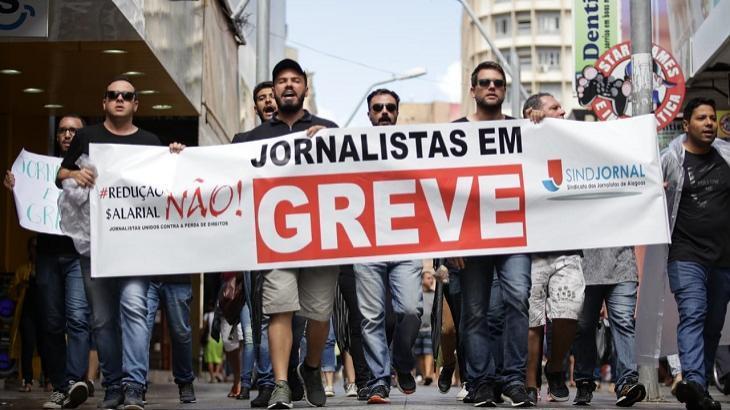 Jornalistas do Alagoas ficaram em greve por quase duas semanas. Foto: Divulgação