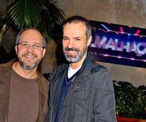Emanuel Jacobina (à direita) e Ricardo Waddington no lançamento de