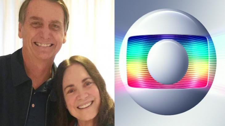 Jair Bolsonaro, Regina Duarte e Globo - Foto: Montagem/Reprodução