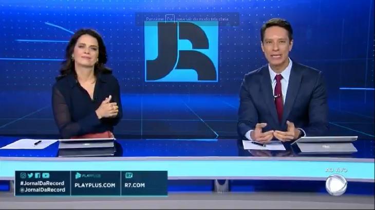 Jornal da Record segue bem acima do SBT Brasil - Foto: Divulgação