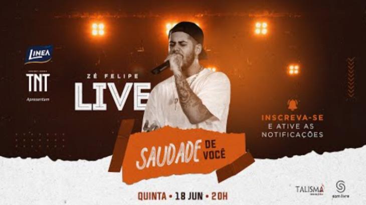 Live do Zé Felipe - Foto: Divulgação