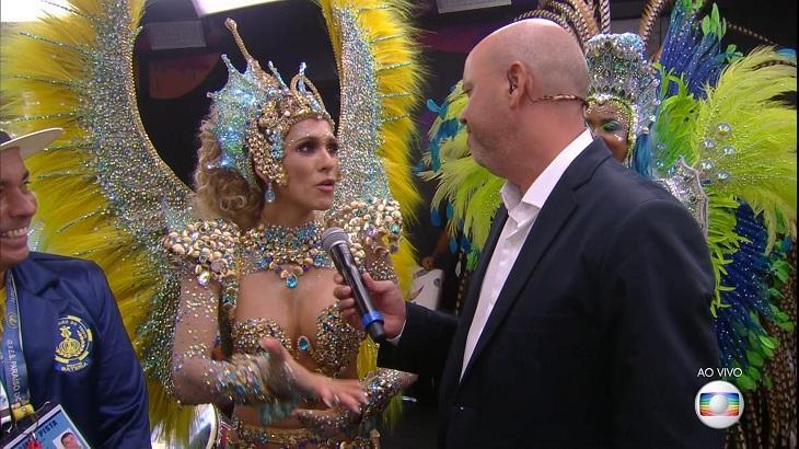 Lívia Andrade deixou a web enlouquecida ao aparecer na Globo durante o Carnaval - Foto: Reprodução