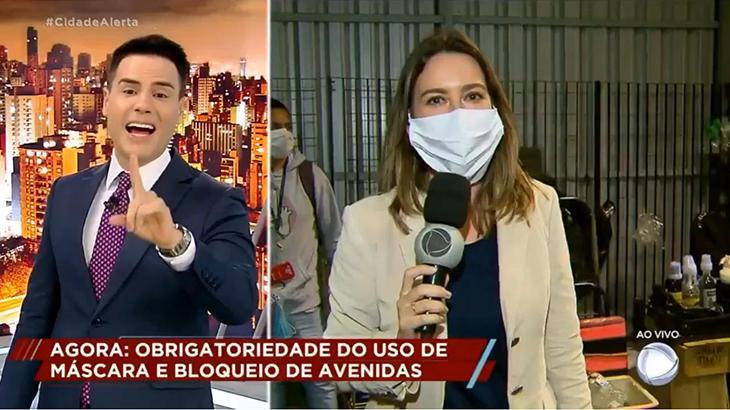 Luiz Bacci chama repórter Luiza Zanchetta de