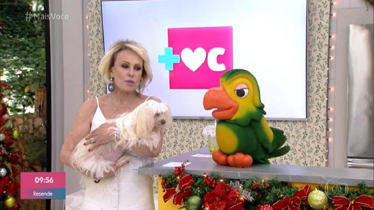 Ana Maria Braga contou a história de Cristal, sua cachorrinha que ficou cega. Foto: Divulgação