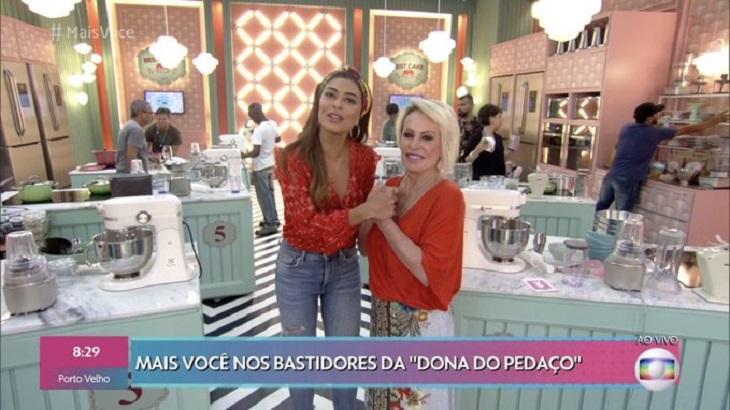 Ana Maria Braga visitando o Best Cake. Foto: Divulgação