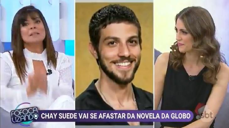 Mara Maravilha divide a tela com Chris Flores e Chay Suede, comentando sobre a participação de Chay na novela da Globo