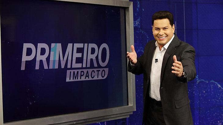 Marcão do Povo é apresentador do Primeiro Impacto - Foto: Divulgação/SBT