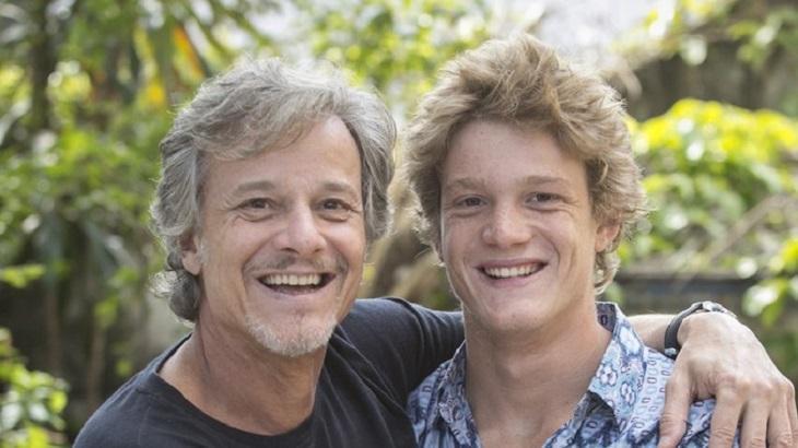 Marcello Novaes e o filho Pedro Novaes. Foto: Divulgação