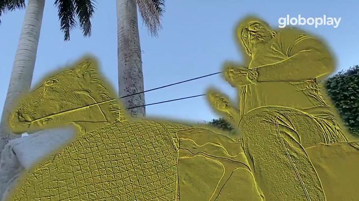 Marcelo Adnet imita Jair Bolsonaro e refaz abertura da novela O Rei do Gado