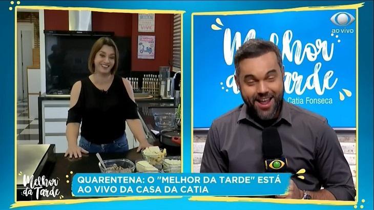 Cátia Fonseca apresentou o Melhor da Tarde de sua casa e o programa cresceu no Ibope - Foto: Divulgação