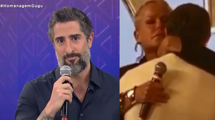 Marcos Mion agradece abraço de Xuxa após se emocionar com presente deixado por Gugu