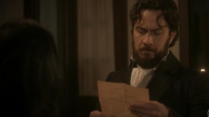 """Novo Mundo: Desmascarado, Thomas mente sobre morte de pai de Anna: """"Não sei o que houve"""""""
