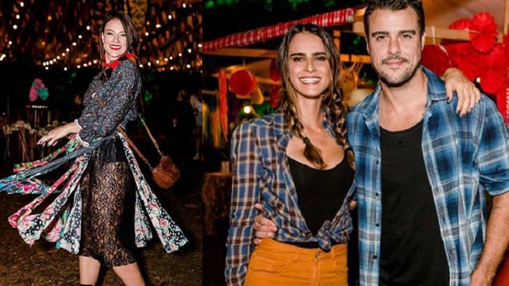 Paolla Oliveira, Joaquim Lopes e Marcella Fogaça foram para mesma festa junina no Rio de Janeiro - Foto: Montagem/Instagram