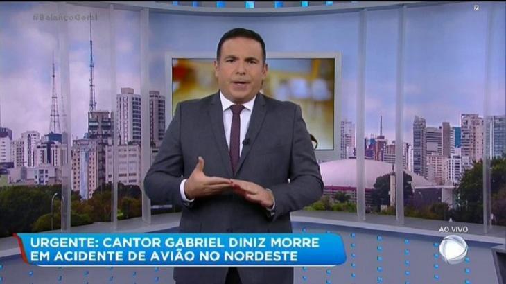 Plantão da Record foi líder de audiência com a cobertura da morte de Gabriel Diniz. Foto: Reprodução