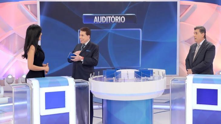 Carlos Nascimento e Márcia Dantas participam do Programa Silvio Santos